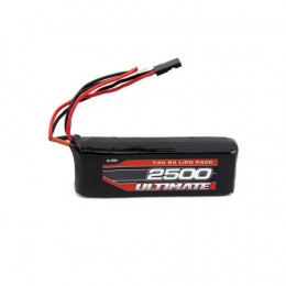 Ultimate Batterie de Réception Li-po 2S 7.6v 2500mAh JR UR4451