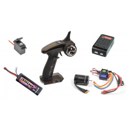 T2M Pack Radio Racer 3S + Chargeur Pocket Wizard + Lipo 2S 3500mAh + Servo T224 + Speedster Pro T4618L2