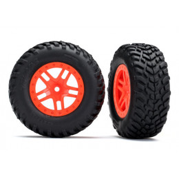 Traxxas Pneus + Jantes SCT Orange (x2) 5892